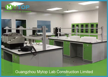 Green Color Laboratory Furniture Systems Lab Working Table For Pathological Easy Clean
